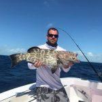 Big black grouper in Islamorada