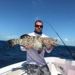 Big black grouper in Islamorada
