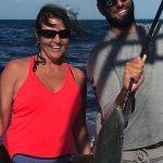 Happy cuple fishing